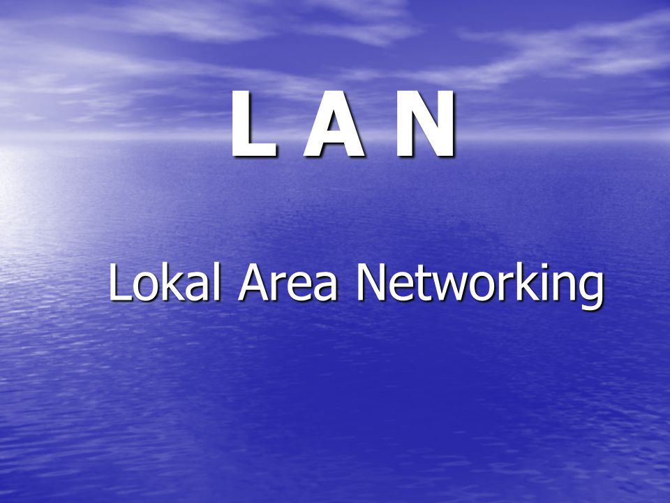 L A N Lokal Area Networking