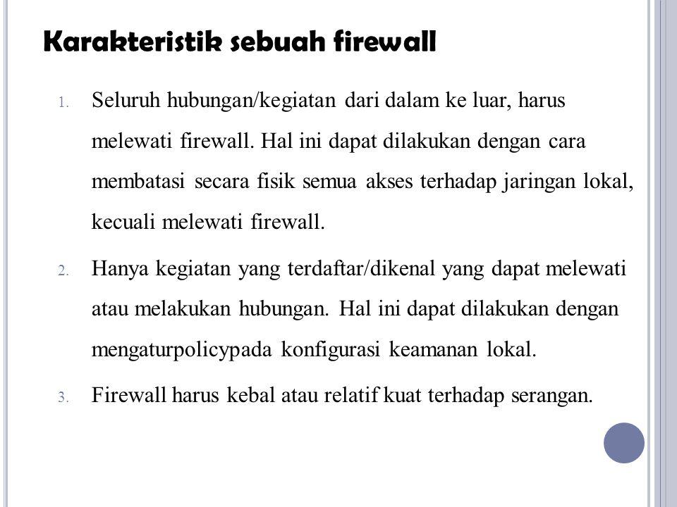 Karakteristik sebuah firewall