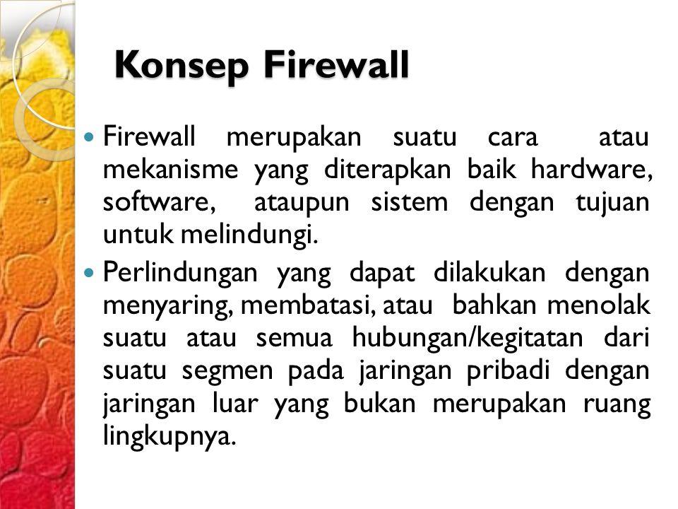Konsep Firewall