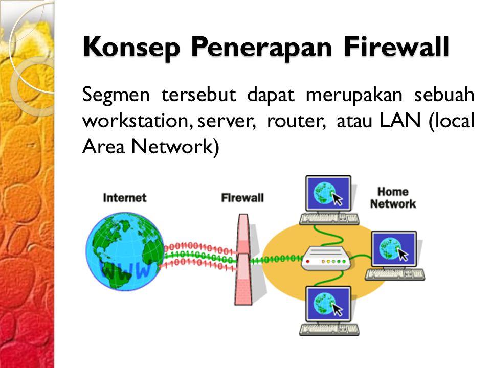Konsep Penerapan Firewall