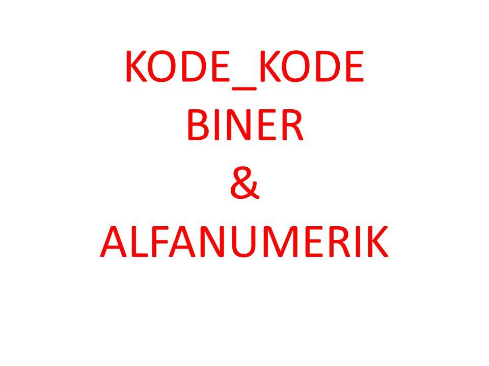 KODE_KODE BINER & ALFANUMERIK
