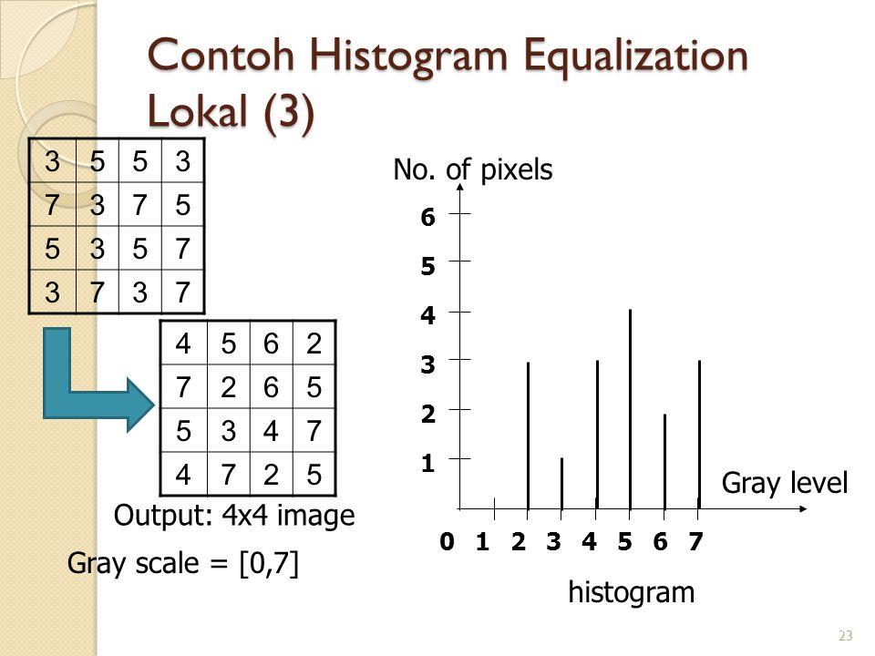 Contoh Histogram Equalization Lokal (3)