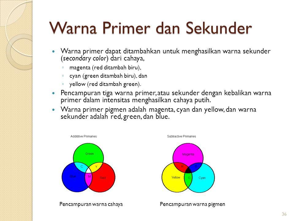 Warna Primer dan Sekunder