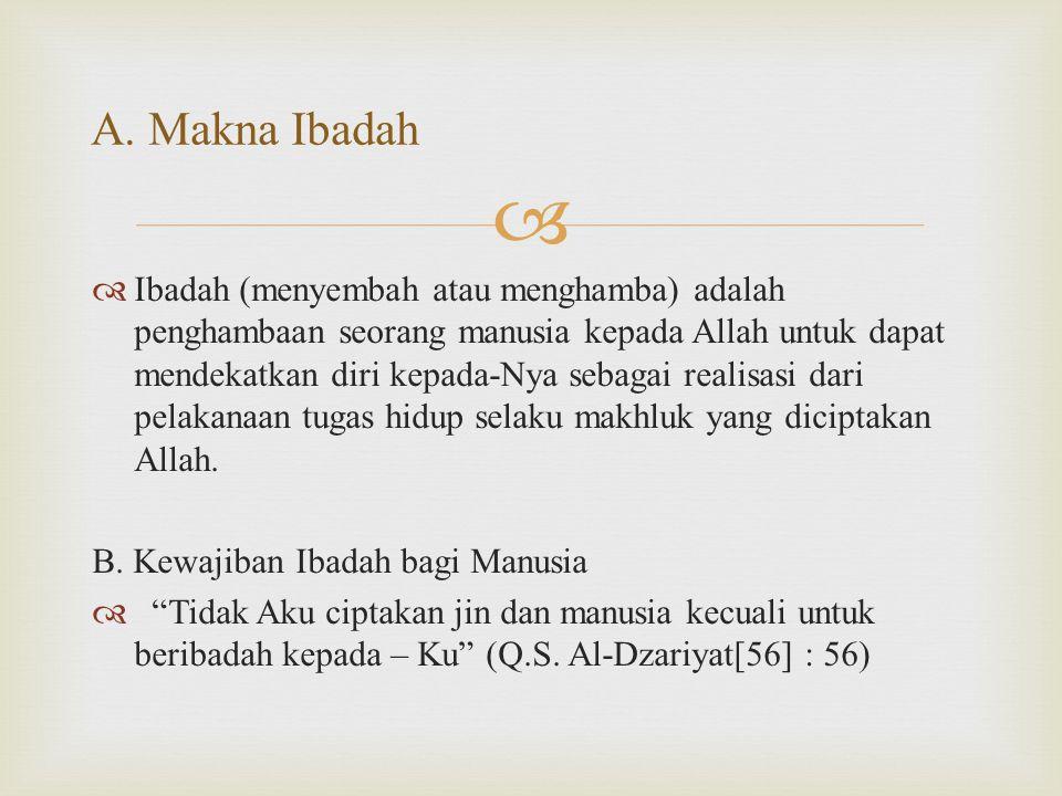 A. Makna Ibadah