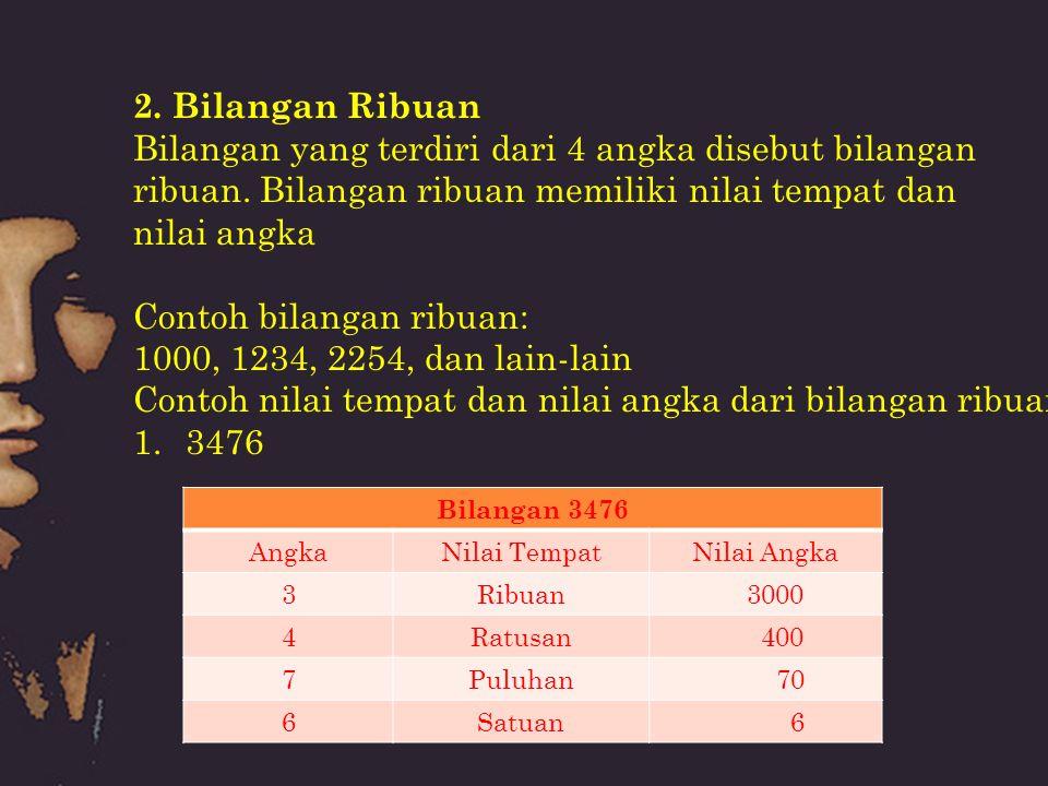 Bilangan yang terdiri dari 4 angka disebut bilangan