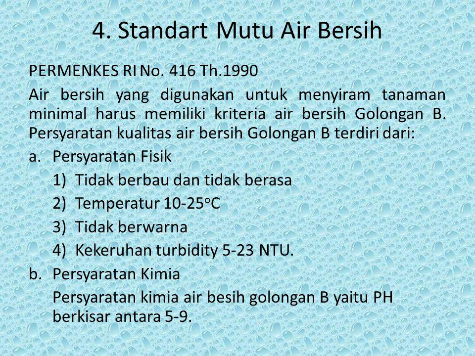 4. Standart Mutu Air Bersih