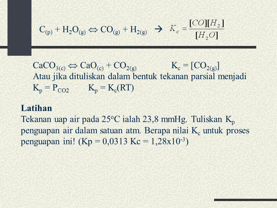 C(p) + H2O(g)  CO(g) + H2(g) 