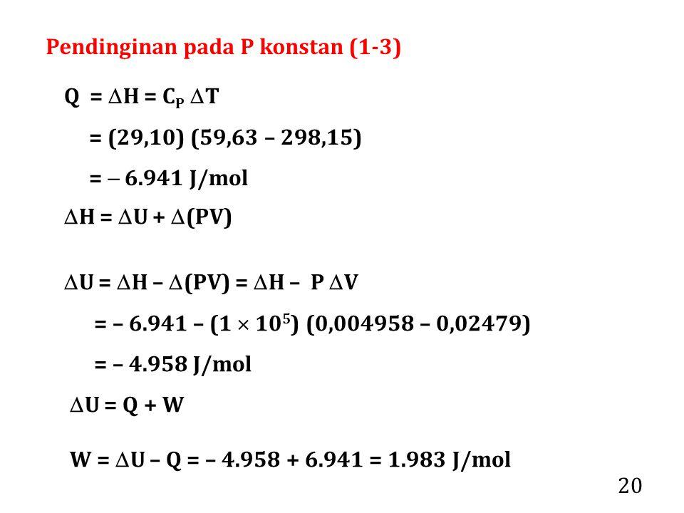 Pendinginan pada P konstan (1-3)