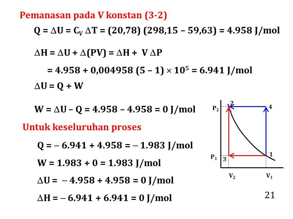 Pemanasan pada V konstan (3-2)