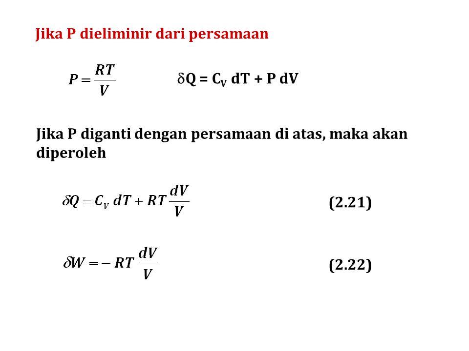 Jika P dieliminir dari persamaan