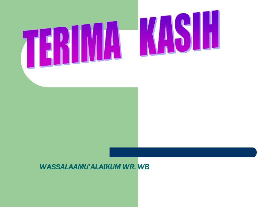 WASSALAAMU'ALAIKUM WR. WB