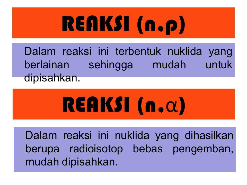 REAKSI (n,p) REAKSI (n,α)