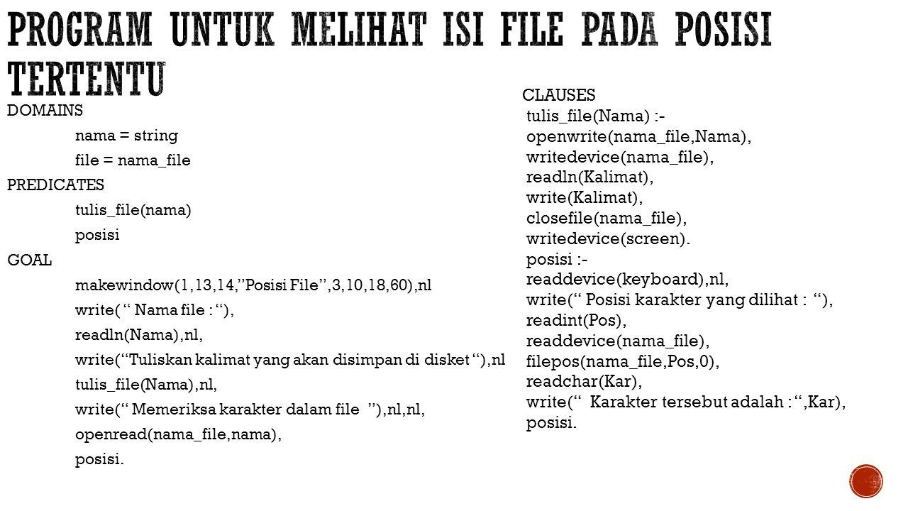 program untuk melihat isi file pada posisi tertentu