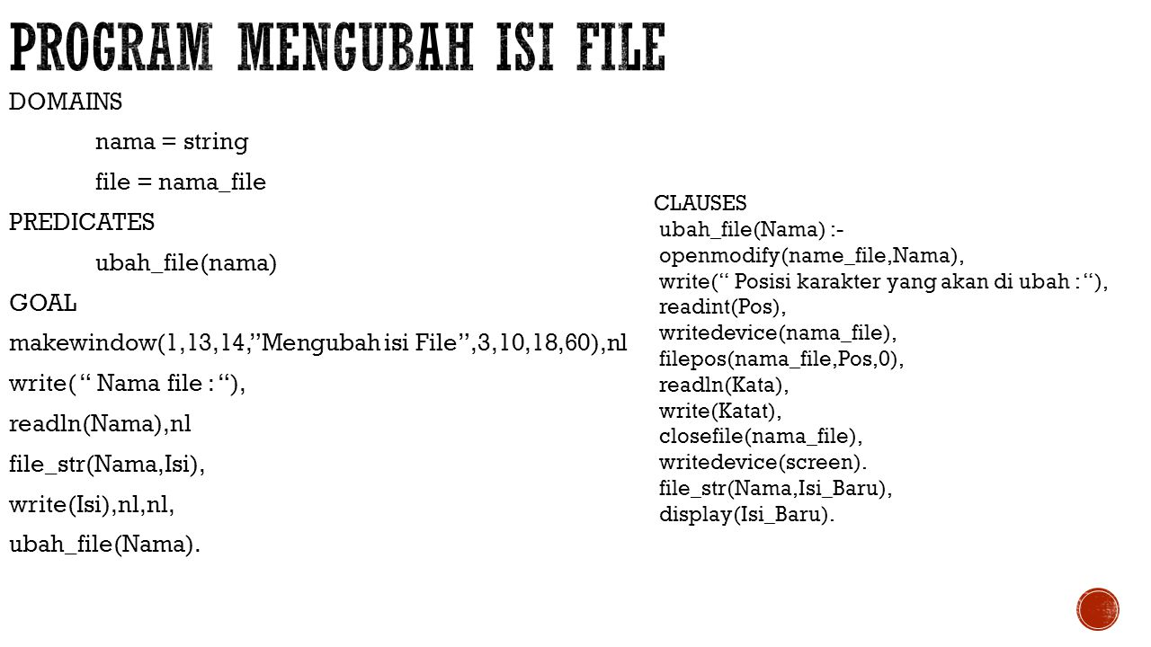 Program mengubah isi file