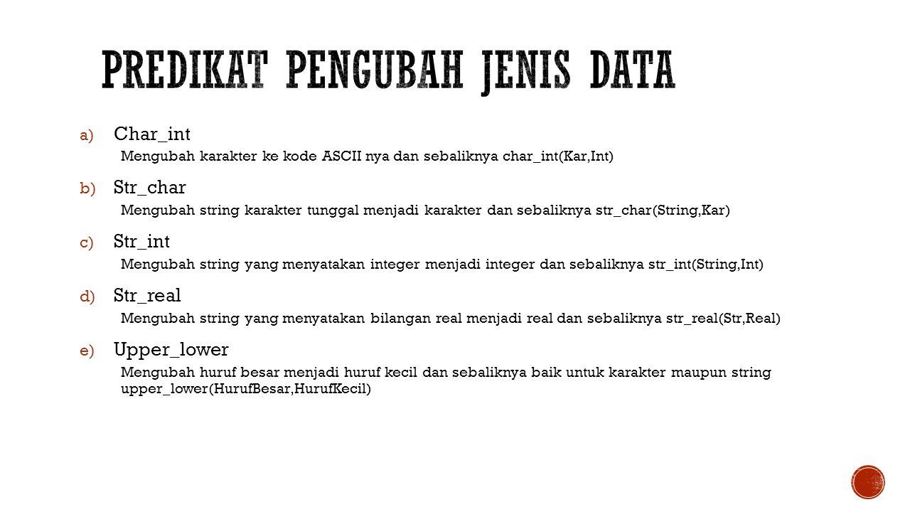 Predikat pengubah jenis data