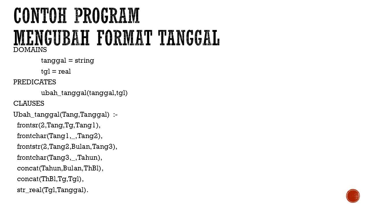 Contoh program mengubah format tanggal