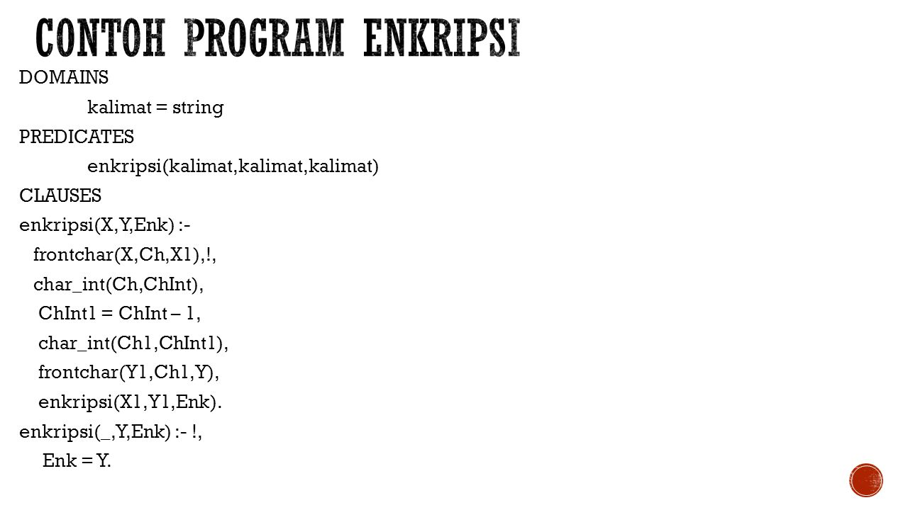 Contoh program Enkripsi