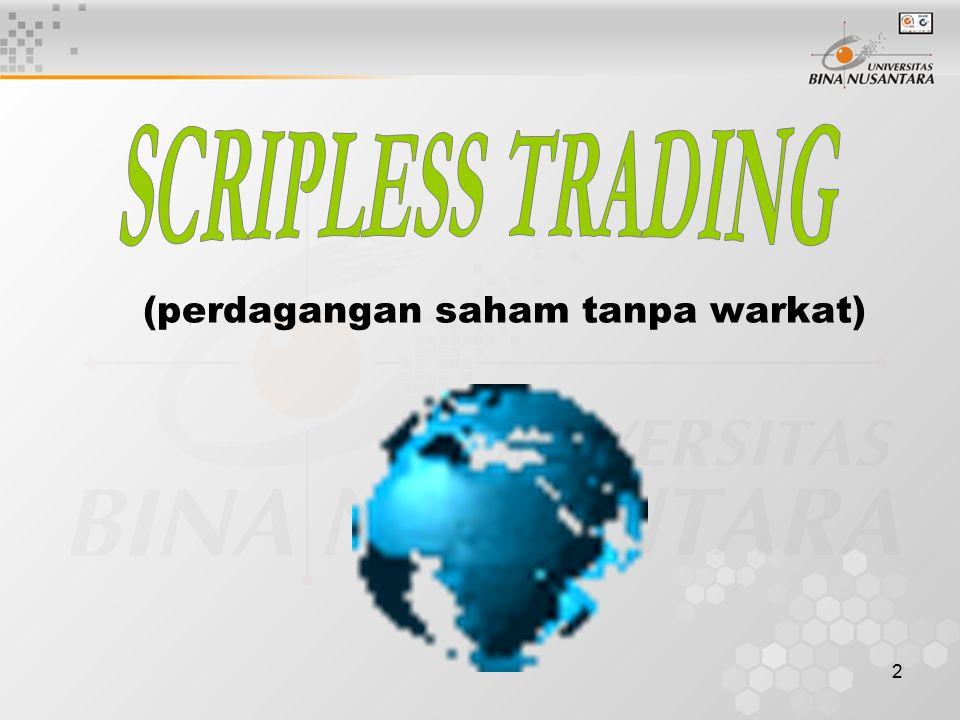(perdagangan saham tanpa warkat)