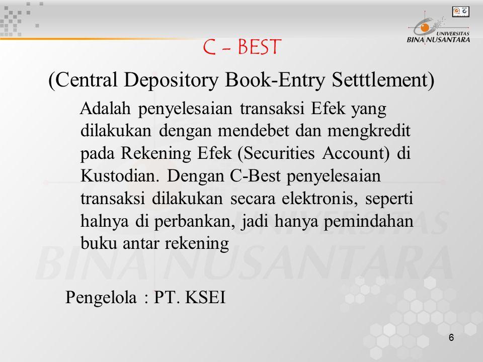 (Central Depository Book-Entry Setttlement)