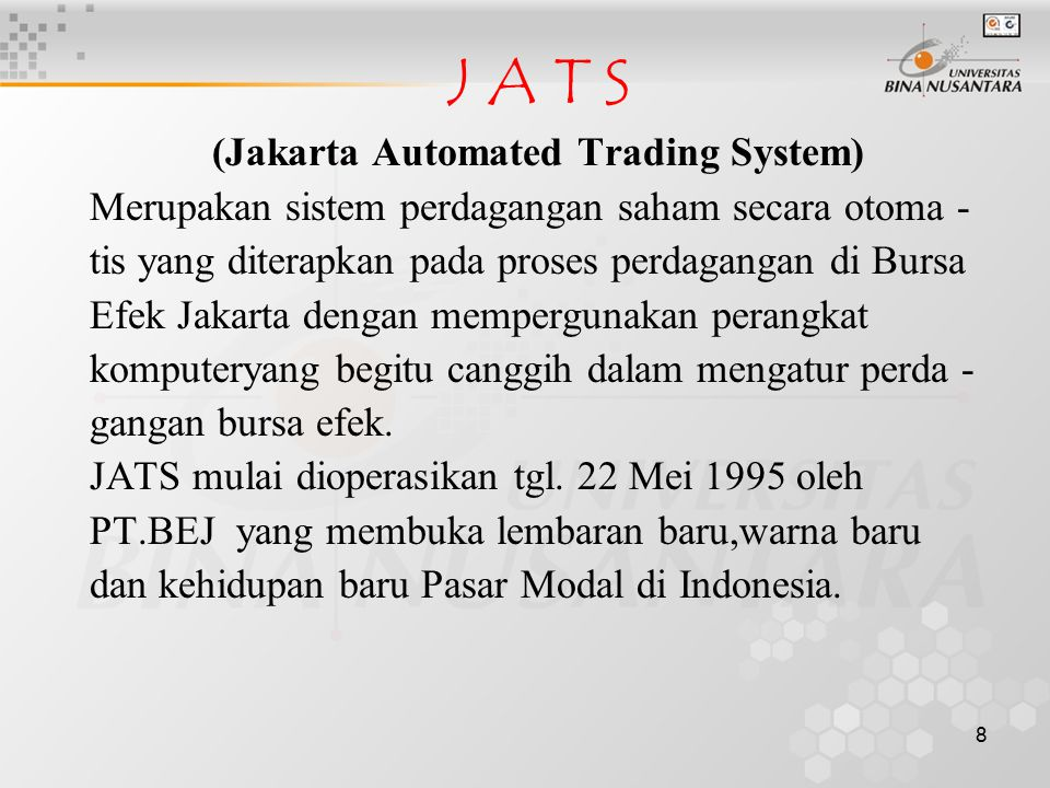 (Jakarta Automated Trading System)
