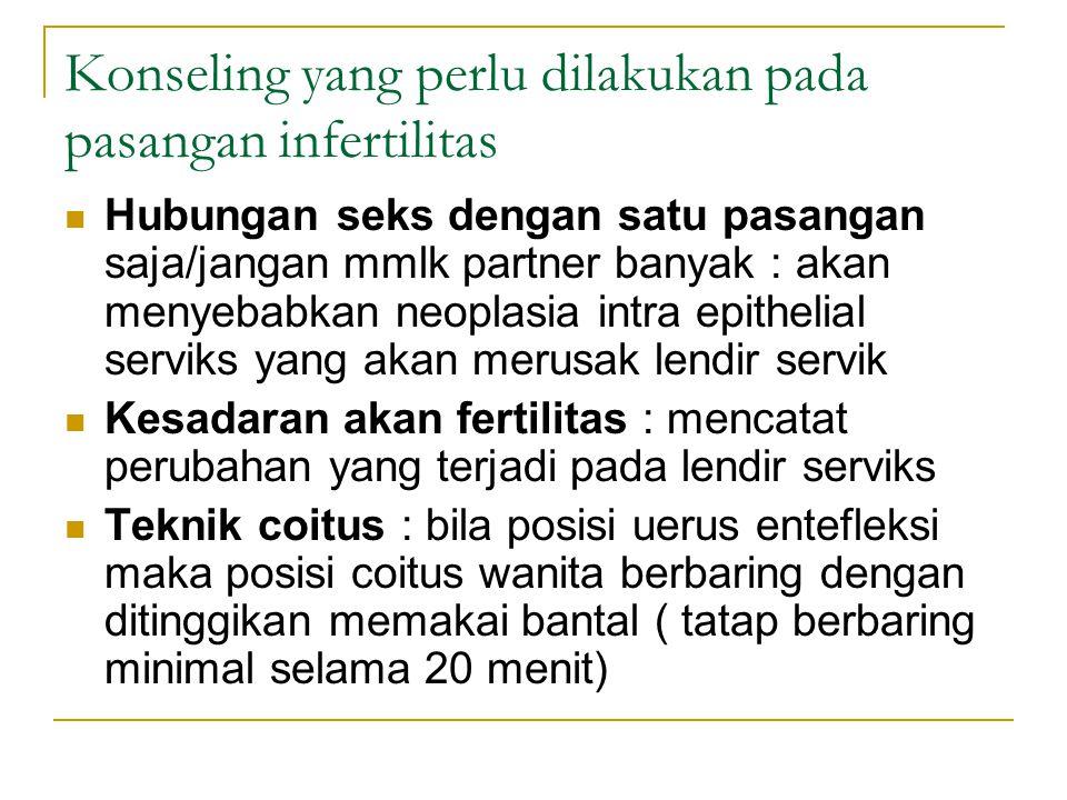 Konseling yang perlu dilakukan pada pasangan infertilitas