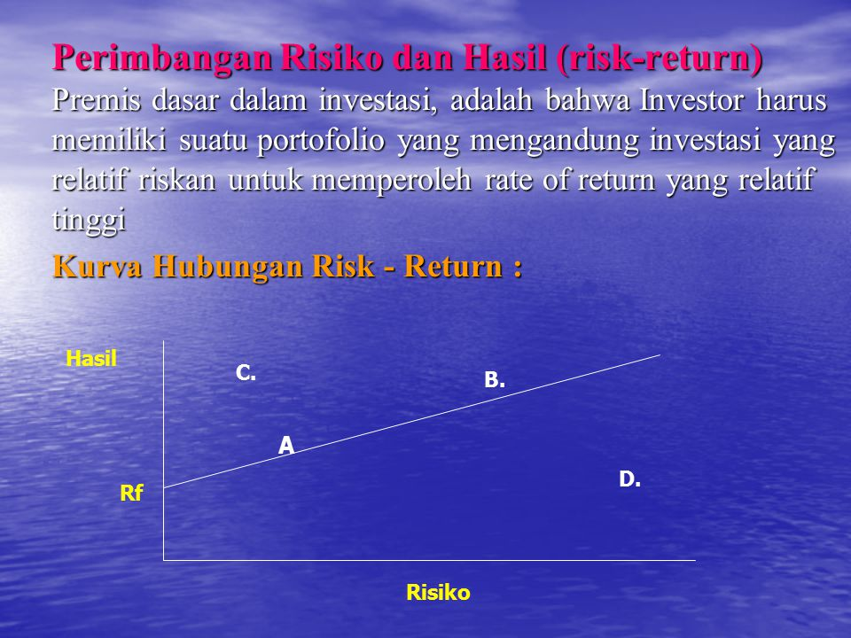 Perimbangan Risiko dan Hasil (risk-return)