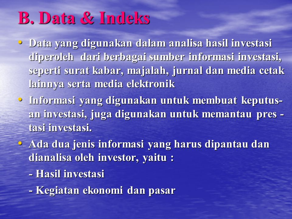 B. Data & Indeks