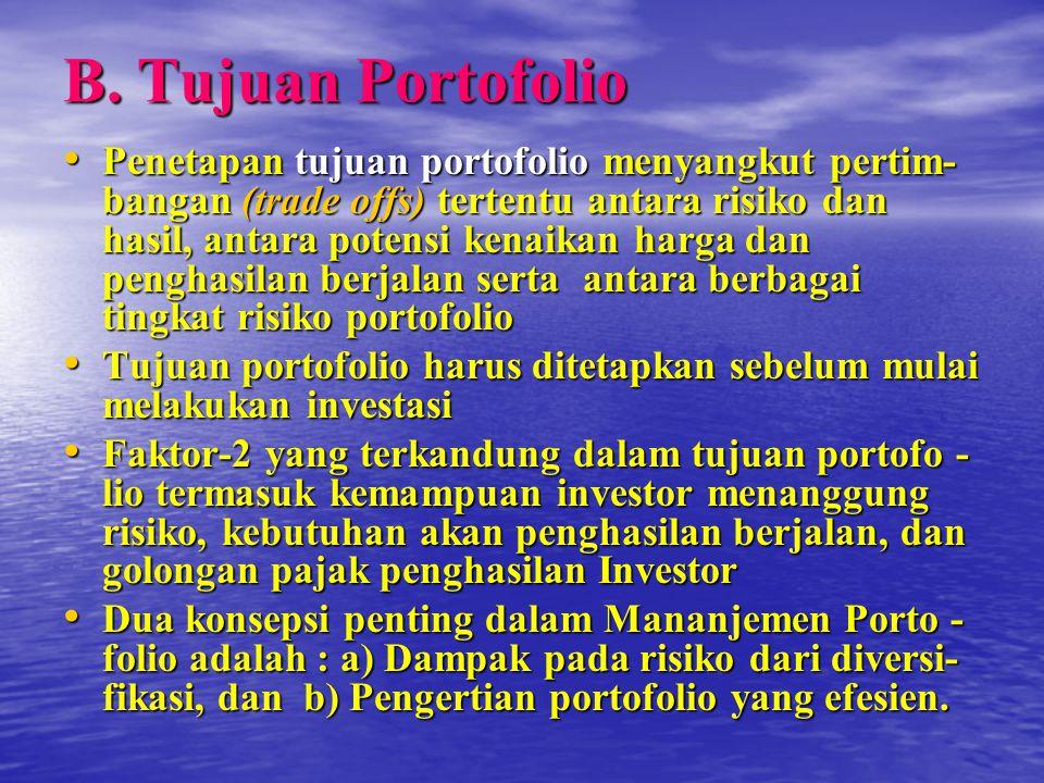 B. Tujuan Portofolio