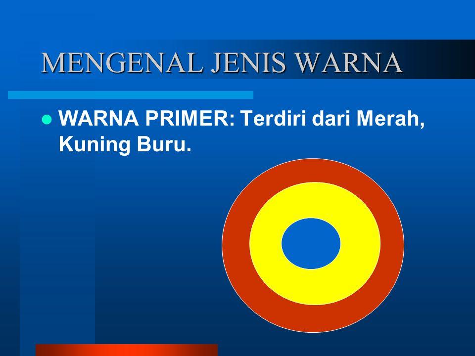 MENGENAL JENIS WARNA WARNA PRIMER: Terdiri dari Merah, Kuning Buru.