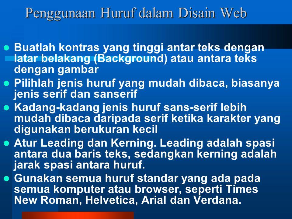 Penggunaan Huruf dalam Disain Web