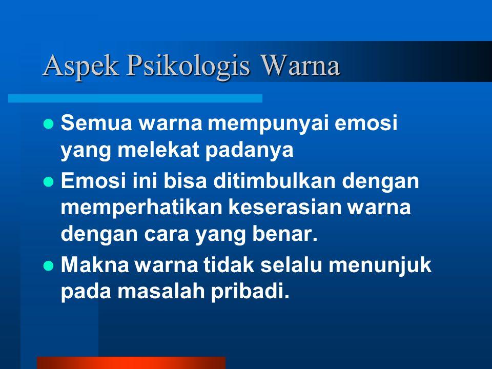 Aspek Psikologis Warna