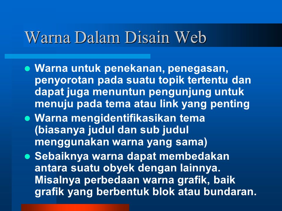 Warna Dalam Disain Web