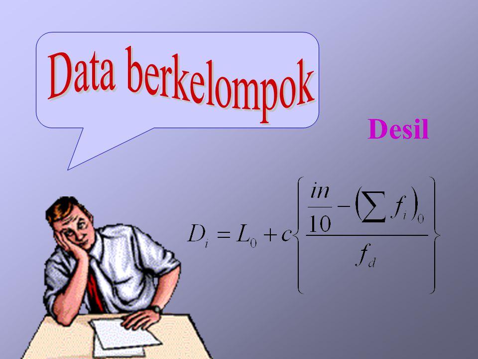 Data berkelompok Desil