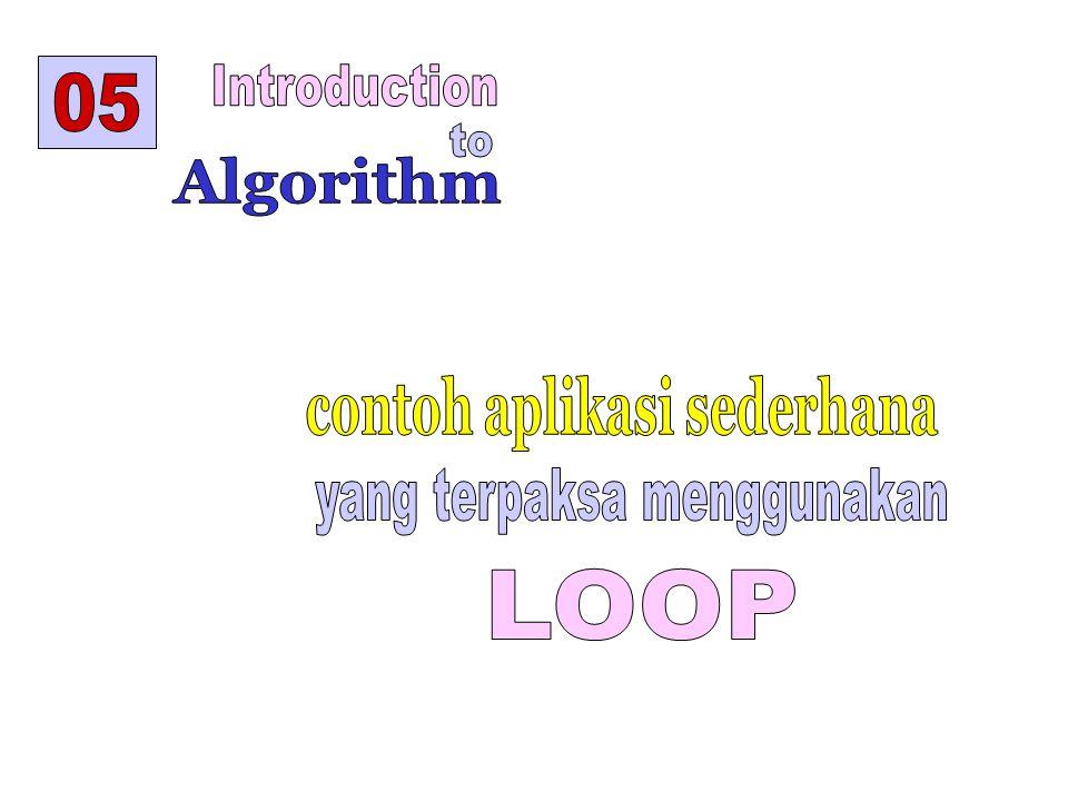 contoh aplikasi sederhana yang terpaksa menggunakan