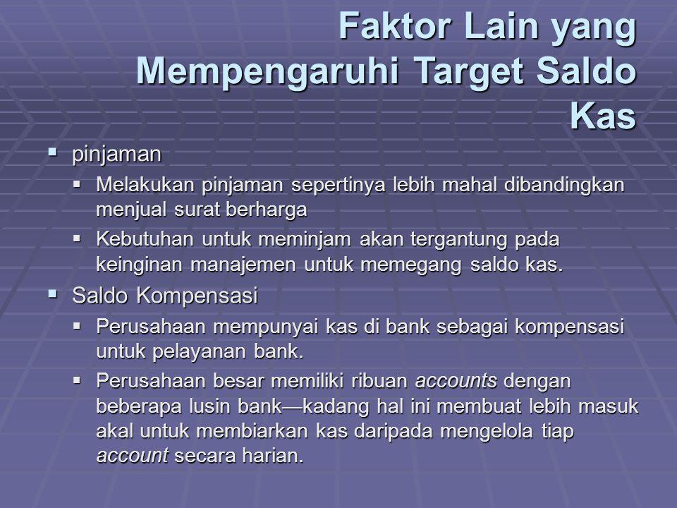Faktor Lain yang Mempengaruhi Target Saldo Kas