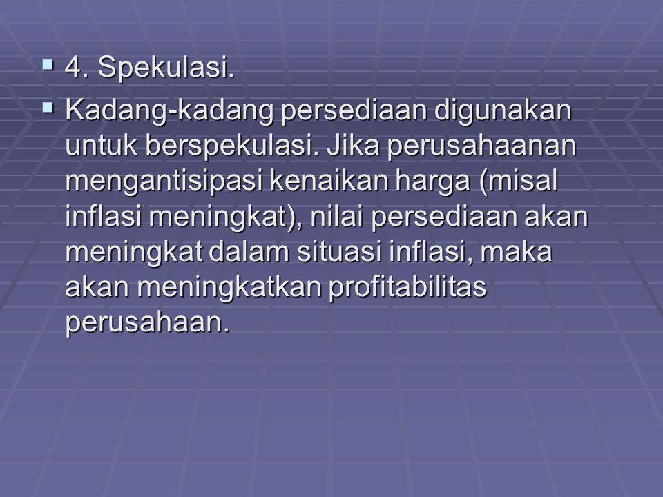 4. Spekulasi.