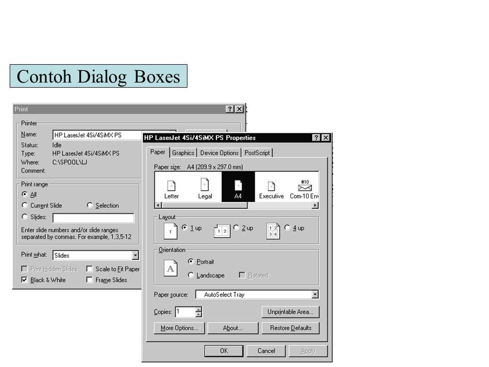 Contoh Dialog Boxes 3
