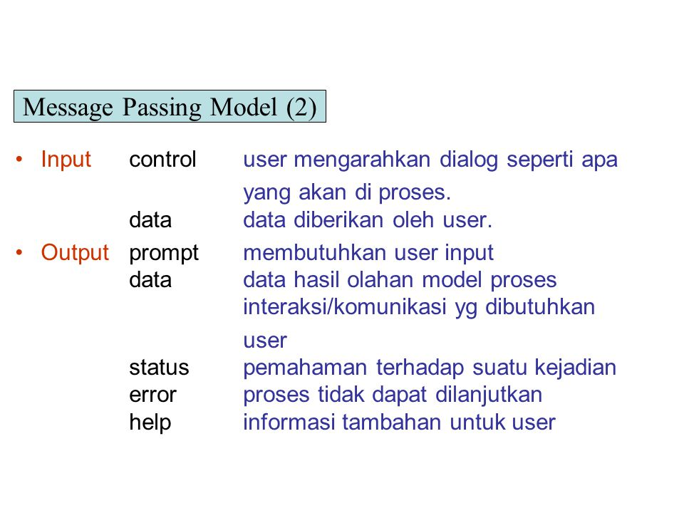 Message Passing Model (2)