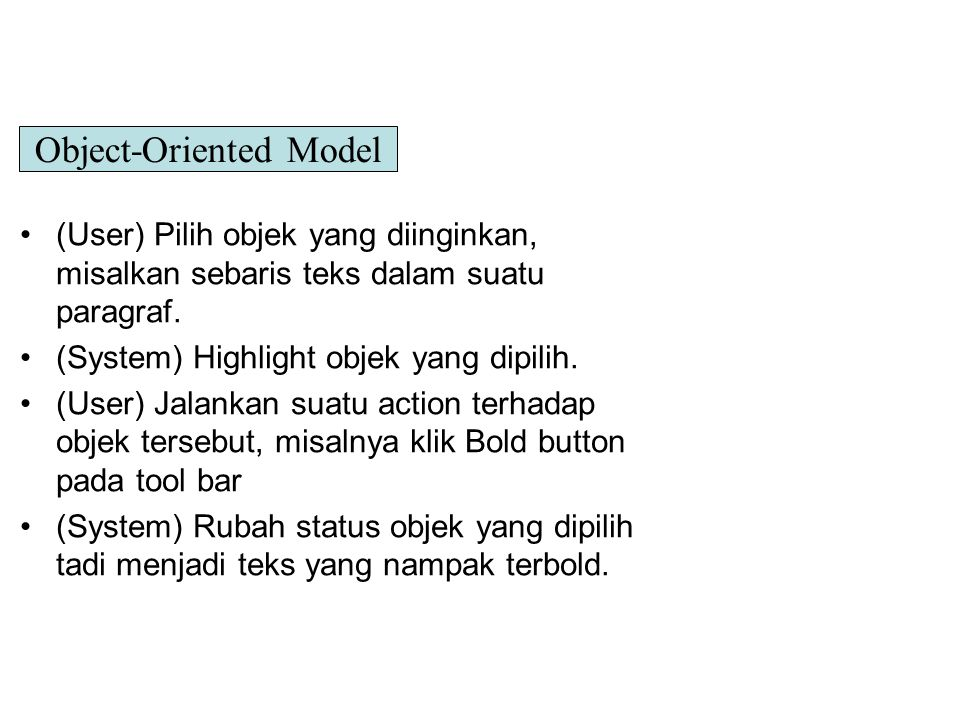 Object-Oriented Model