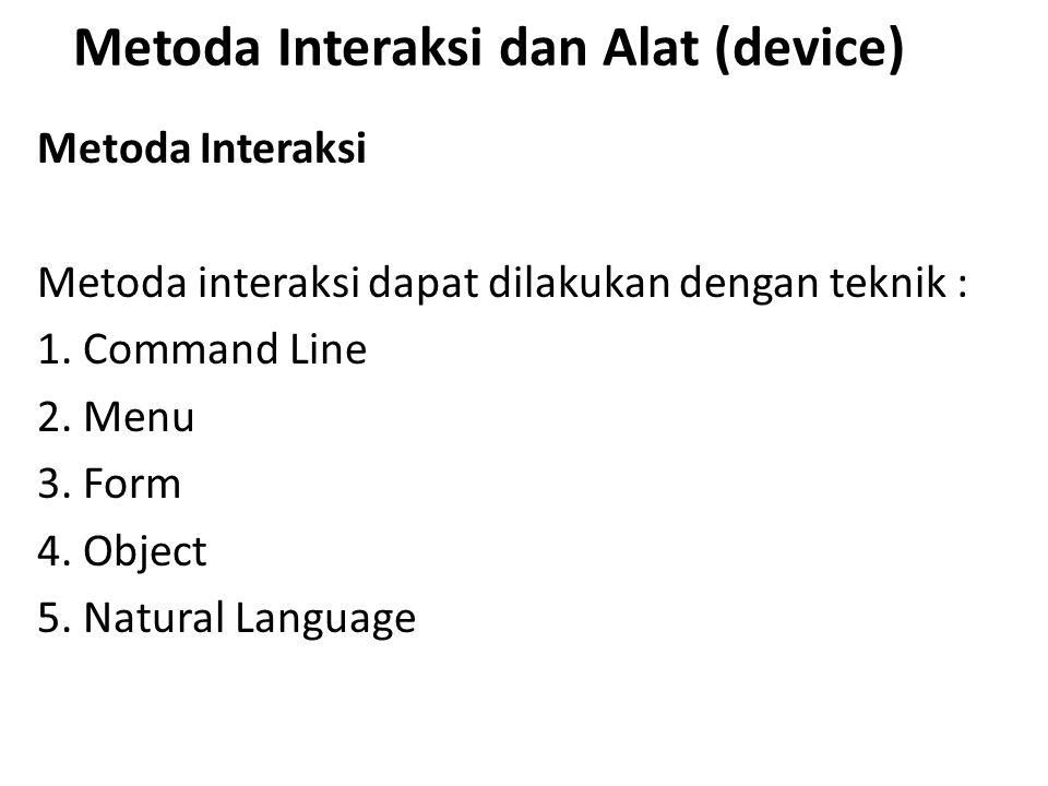 Metoda Interaksi dan Alat (device)