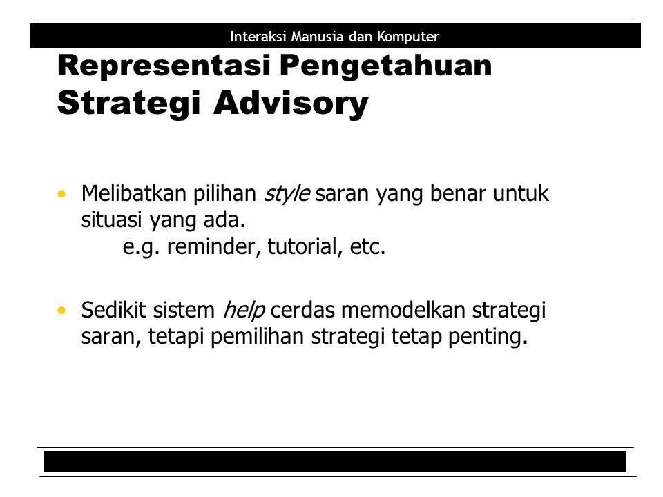 Representasi Pengetahuan Strategi Advisory