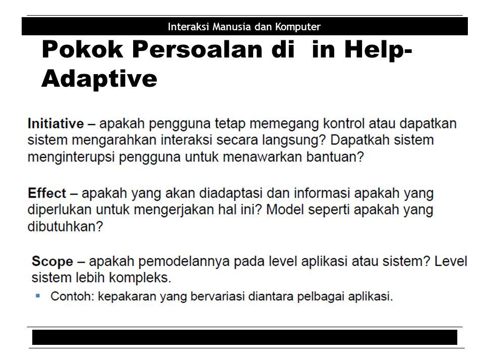Pokok Persoalan di in Help-Adaptive