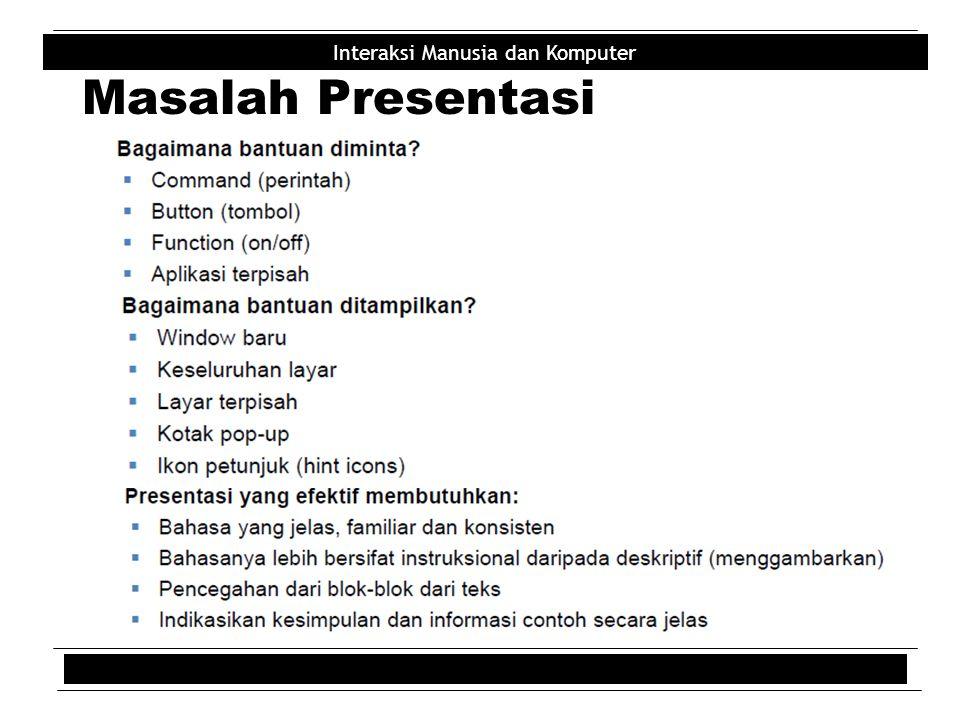 Masalah Presentasi