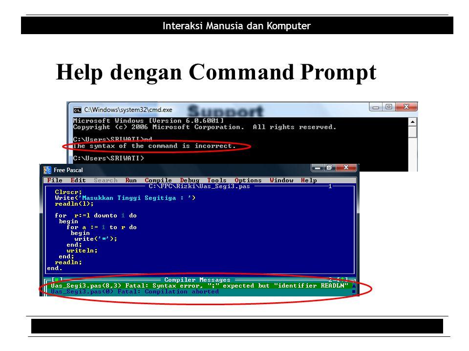 Help dengan Command Prompt