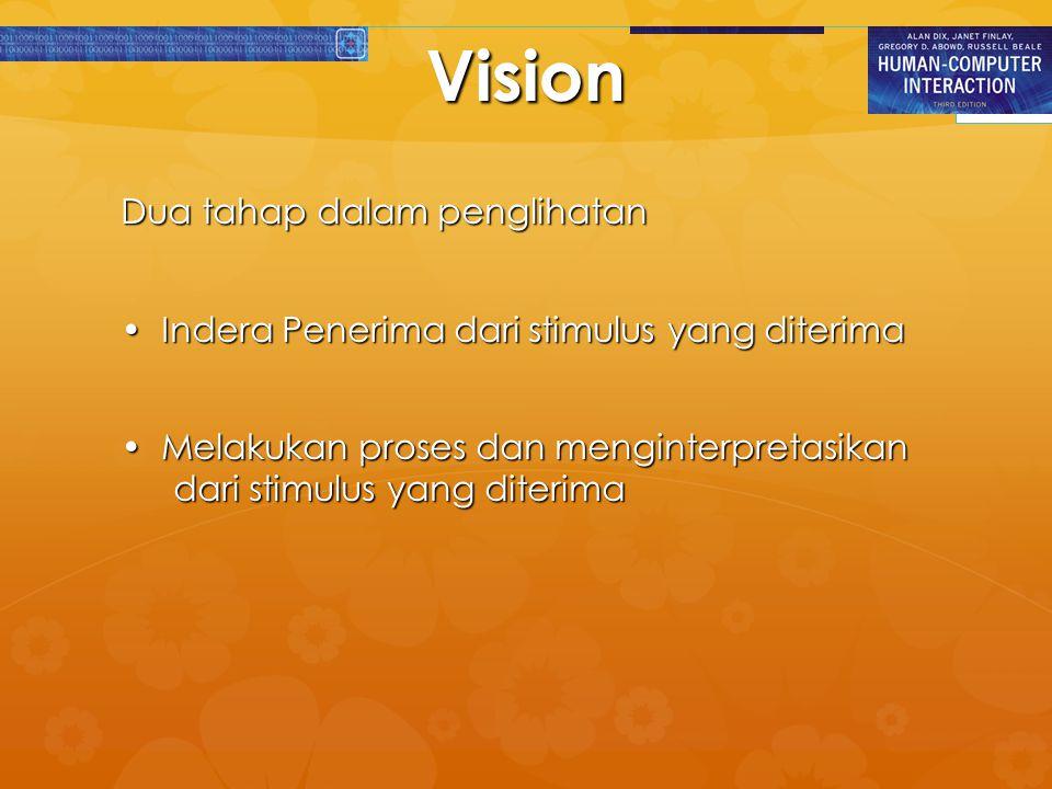 Vision Dua tahap dalam penglihatan