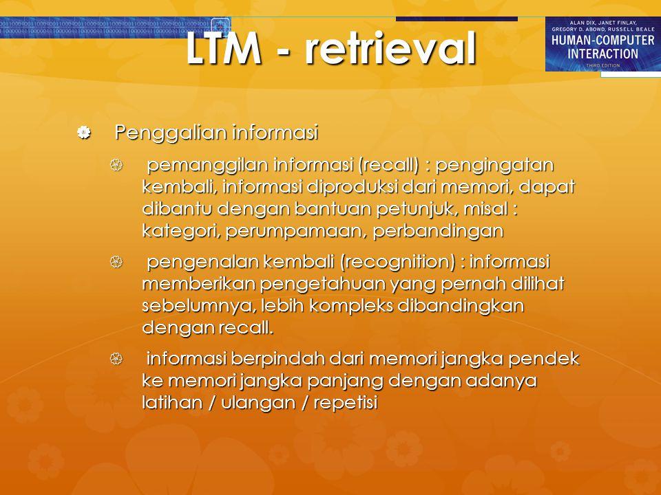 LTM - retrieval Penggalian informasi