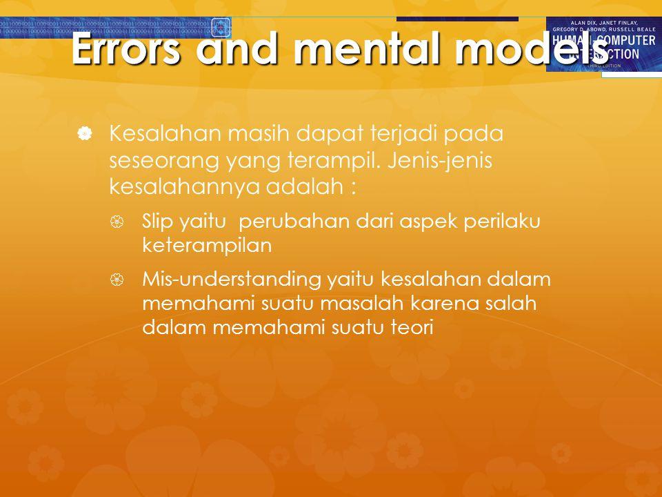 Errors and mental models