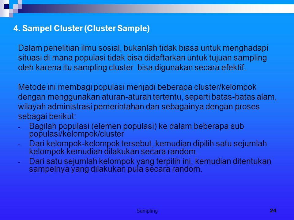 4. Sampel Cluster (Cluster Sample)