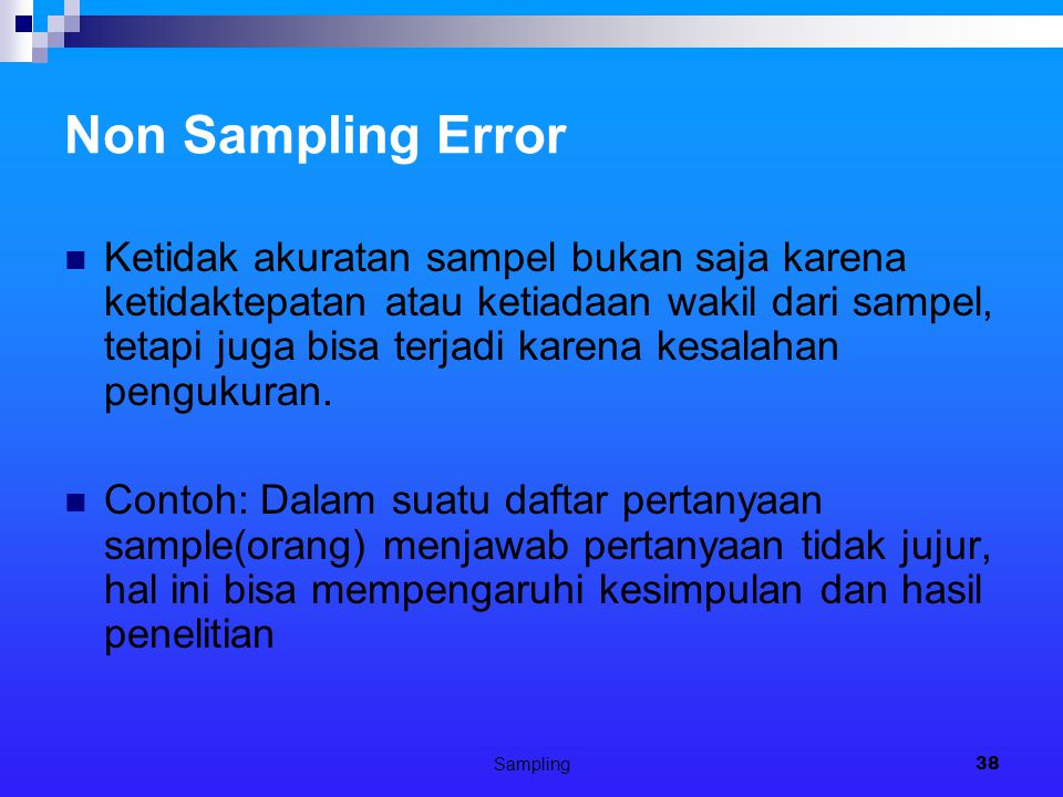 Non Sampling Error