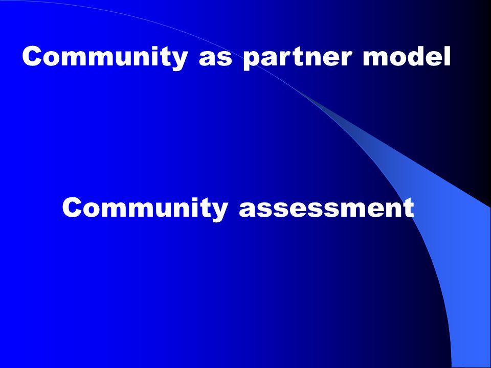 Community as partner model